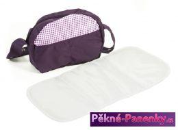 přebalovací taška na kočárek Bayer Chic Purple Checker