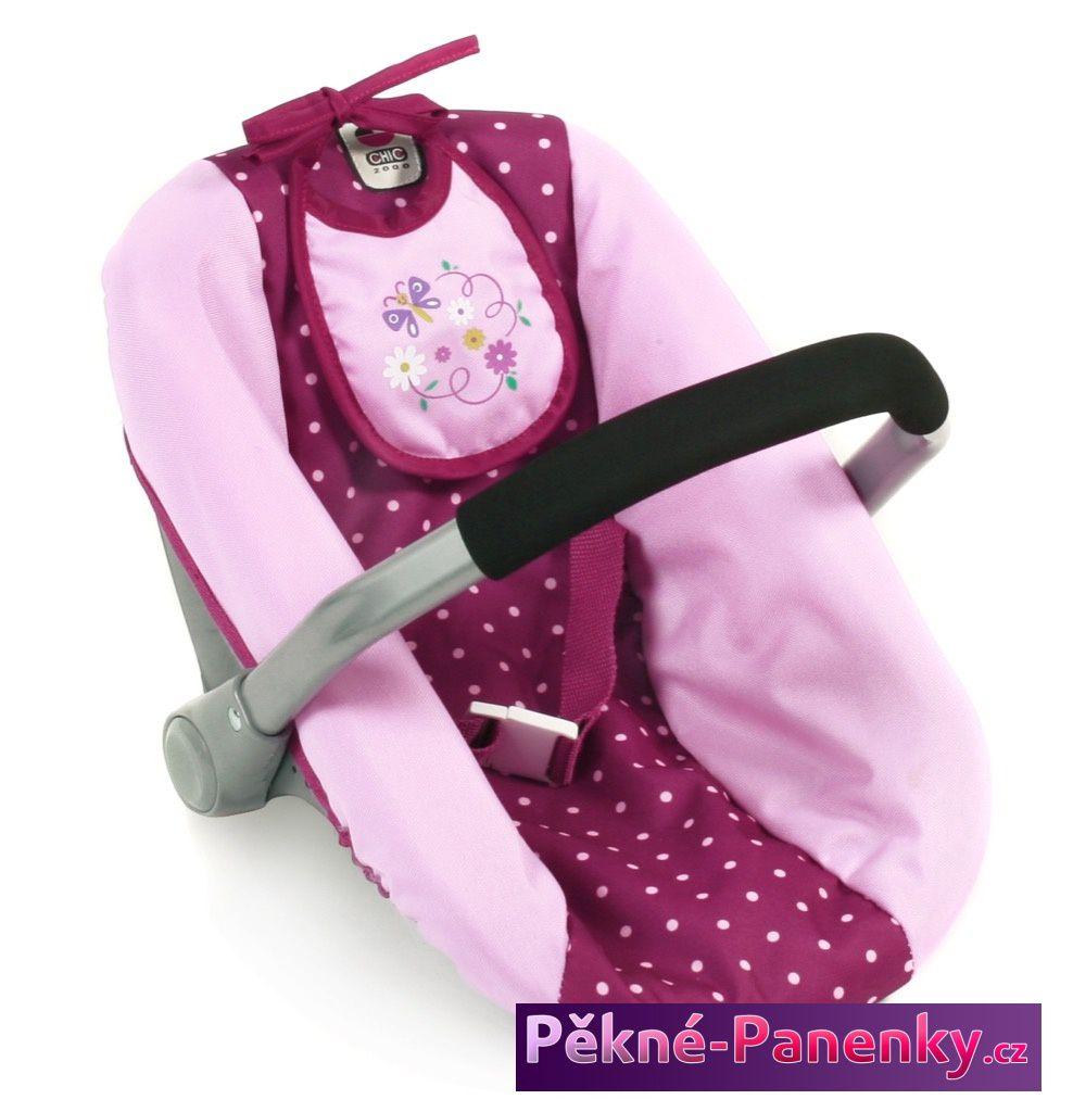 dětská kvalitní autosedačka pro panenku - miminko, značková autosedačka Bayer Chic