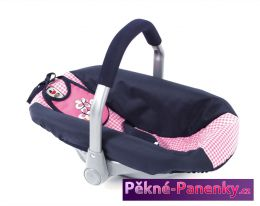 autosedačka pro panenky Bayer Chic Pink Checker