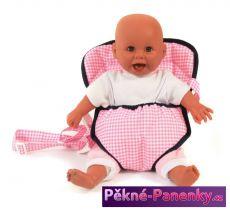 klokanka – popruhy na panenky Bayer Chic Pink Checker