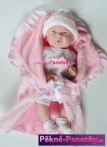 Realistické miminko Berenguer® holčička s výbavičkou 39cm