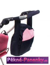 přebalovací taška na kočárek Bayer Chic Pink Checker