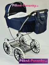 retro kočárek pro panenky Arias® Elegance modrý