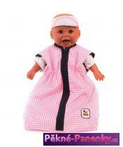 spací pytel pro panenky Bayer Chic Pink Checker