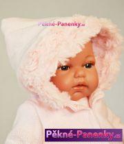 Mluvící realistická panenka Antonio Juan® Toneta holčička s kapucí 34cm
