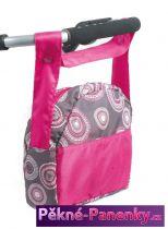 přebalovací taška na kočárek Bayer Chic Hot Pink pearls