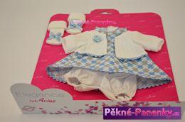 Oblečení pro panenky Arias® 33cm modro-bílá s křížky