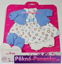 Oblečení pro panenky Arias® 33cm modro-bílá s kolečky