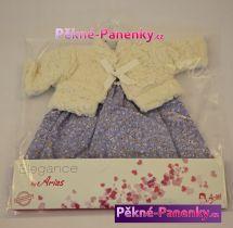 Oblečení pro panenky Arias® 42cm bílo-fialové
