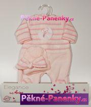 Oblečení pro panenky Arias® 42cm růžovo-bílé dupačky