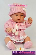 realistické miminko Berbesa Angeles s oblečkem 42 cm