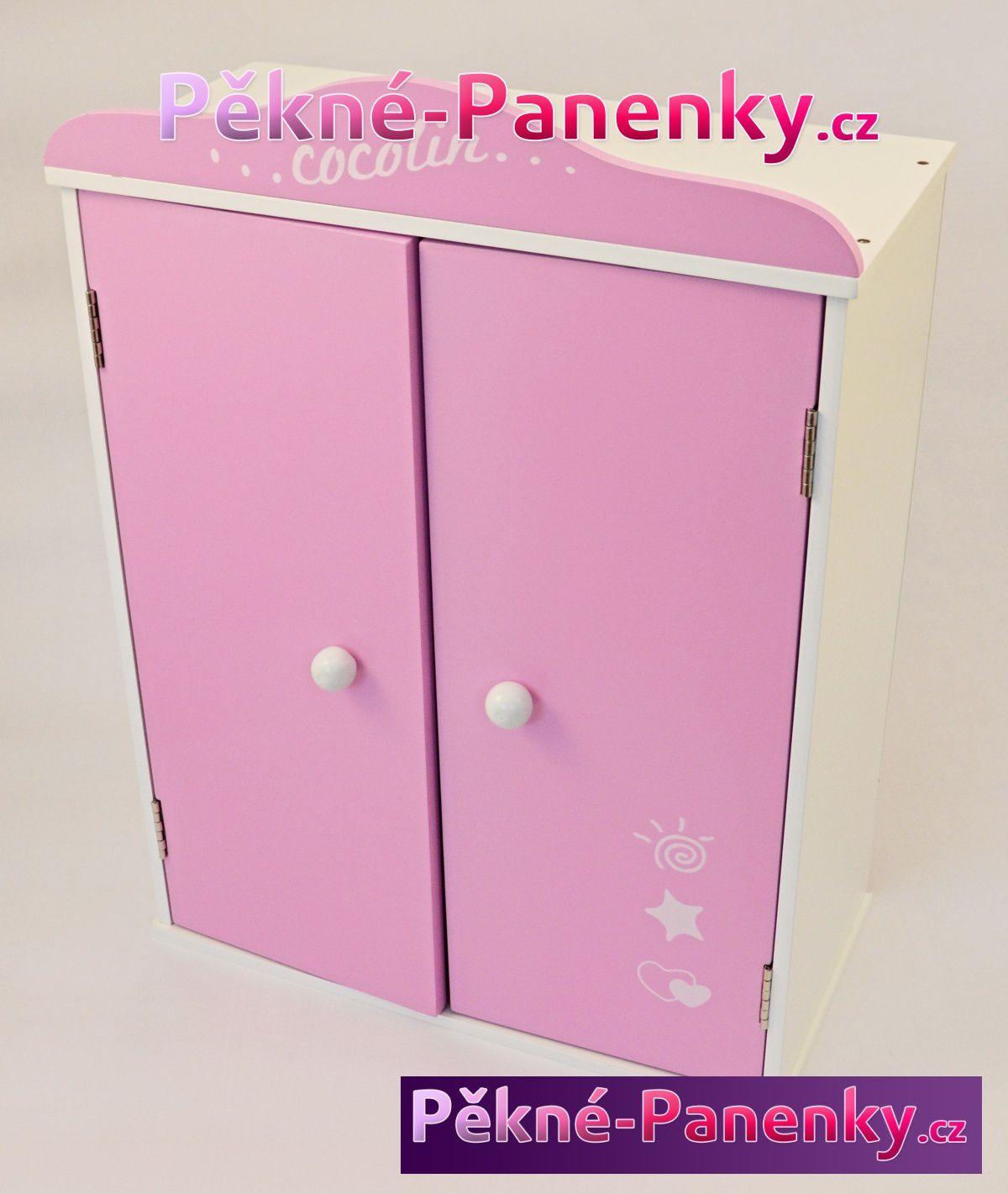 Arias nejlevnější skříň pro panenky, dřevěný nábytek pro panenky, hračky a dárky pro holčičky