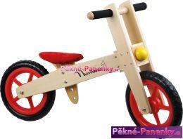 dětské dřevěné odrážedlo červené kolo