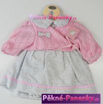 Oblečení pro panenky Berbesa® 62cm Dulzona růžovo-šedé
