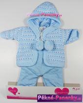 Oblečení pro panenky Arias® 42cm modrý komplet s kapucí