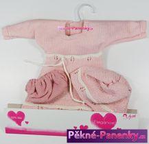 Oblečení pro panenky Arias® 42cm růžové šatičky s čepicí