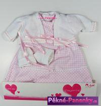 Oblečení pro panenky Arias® 42cm růžový komplet se svetříkem