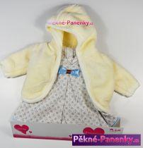 Oblečení pro panenky Arias® 42cm šaty s bílým kabátkem