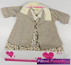 Oblečení pro panenky Arias® 42cm šaty s tmavým kabátkem