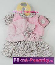 Oblečení pro panenky Berbesa® 42cm Sandra růžové s kloboučkem