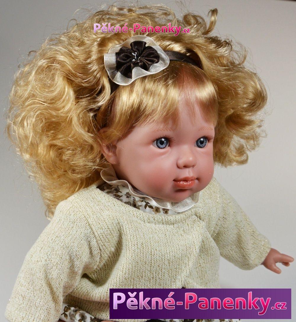 Arias realistická česací panenka s velmi bohatými vlasy, kvalitní španělské panenky