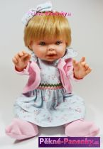Realistická panenka D´nenes Nilo růžová 43cm
