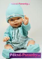 Realistická panenka D´nenes Nilo zelená 43cm