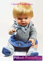 Realistická panenka D´nenes Nilo modrá 43cm