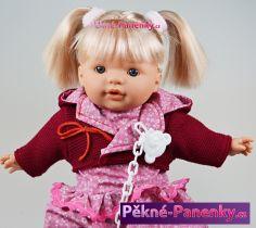 Mluvící panenka Toyse® Lisa červená 38cm