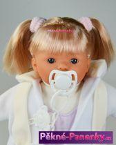 Mluvící panenka Toyse® Lisa bílá 38cm