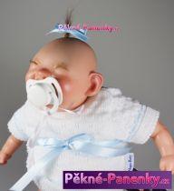 Realistické miminko šklebík bílé 28cm
