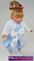 Realistická mluvící panenka Toyse® Diana modro-bílá 40 cm