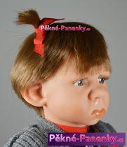 Realistická panenka holčička šklebík 38cm