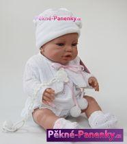 Realistické miminko Berbesa® Angeles s bílým oblečkem 42cm