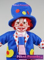 Realistický klaun Arias® Payaso s kravatou 38cm