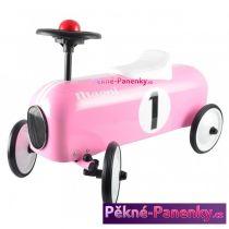 dětské retro odrážedlo růžové auto