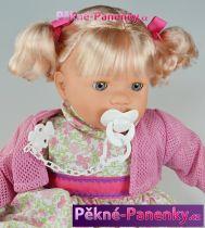 Velká, mluvící a mrkací panenka Toyse® Angela květované šaty 65cm