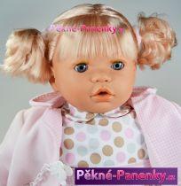 Velká, mluvící a mrkací panenka Toyse® Angela růžová 65cm