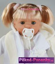 Mluvící a mrkací panenka Toyse® Paula bílá 48cm