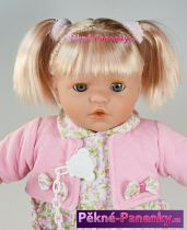 Mluvící a mrkací panenka Toyse® Paula růžová 48cm