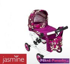 Dětský kočárek pro panenky JASMINE Kids fialovo-růžový