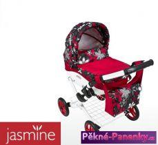 Dětský kočárek pro panenky JASMINE Kids červeno-černý