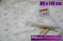 Dětská španělská deka do kočárku MORA® Topitos béžová 80x110cm