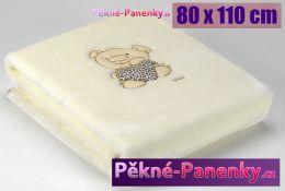 Dětská španělská deka do kočárku MORA® Petits béžová 80x110cm
