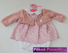 Oblečení pro panenky Antonio Juan® 42cm růžový svetřík s kytičkou