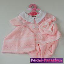 Oblečení pro panenky Antonio Juan® 42cm světle růžový komplet čepičkou a ponožkami