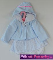 Oblečení pro panenky Antonio Juan® 42cm modrý komplet s kapucí
