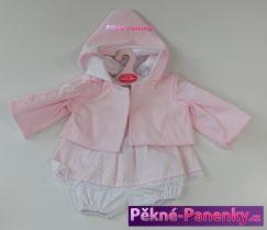 Oblečení pro panenky Antonio Juan® 42cm růžový komplet s kapucí