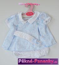 Oblečení pro panenky Antonio Juan® 42cm modro-bílé šatičky s čelenkou