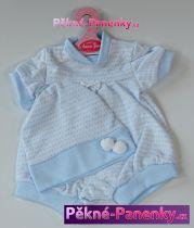 Oblečení pro panenky Antonio Juan® 42cm modro-bílý komplet čepičkou